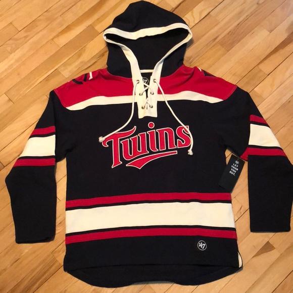 newest 58fca e08a4 47 Brand Minnesota Twins Lacer Hoodie Boutique